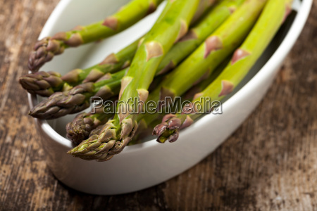 fresh raw green asparagus in spring