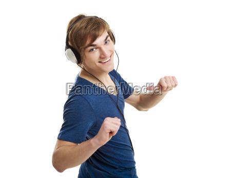 listen music with headphones