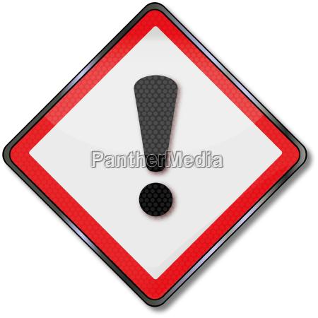 callsign on a danger sign