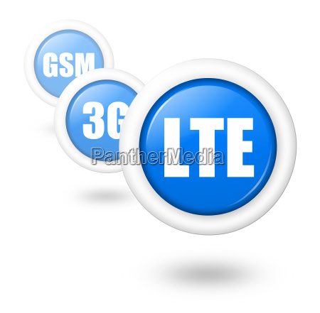 lte telecommunication progress concept illustration