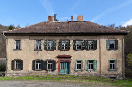 abandoned residential building