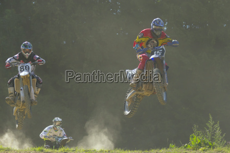 three riders during the race two