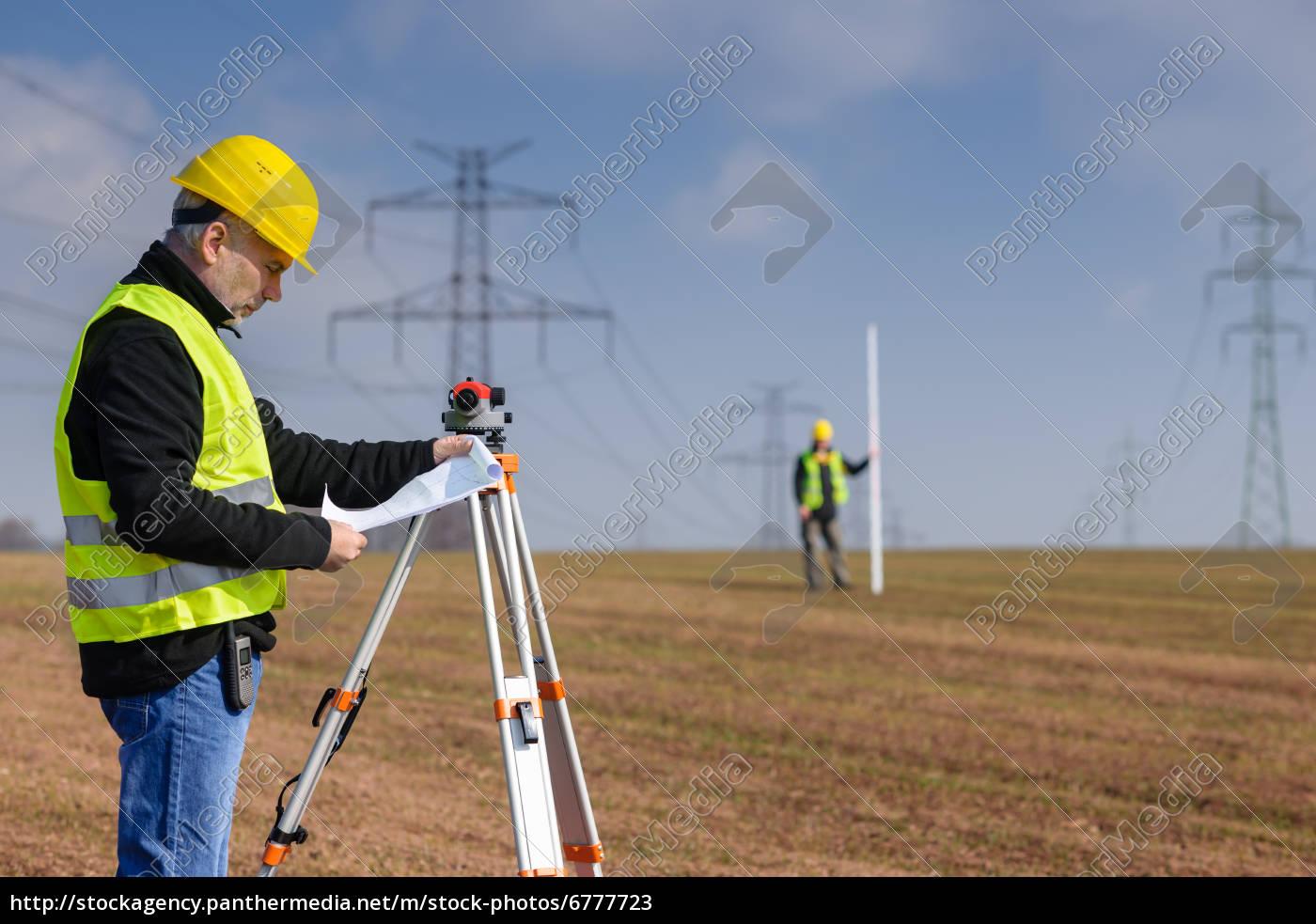 geodesist, measure, land, on, construction, site - 6777723