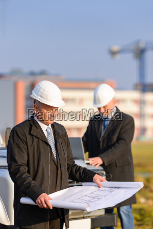 two, architects, at, construction, site, review - 6777775