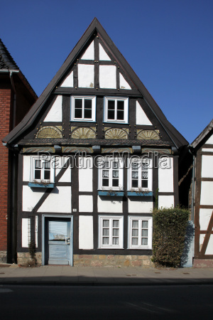 small half timbered house in lemgo
