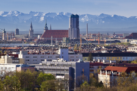 munich with hairdryer with a view
