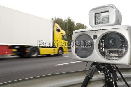 speed camera and truck