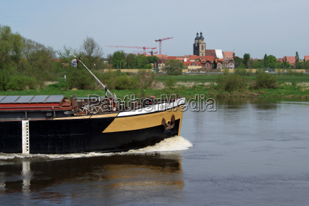 wittenberg skyline with barge on the