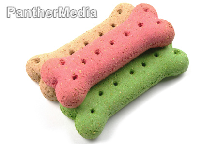 coloured dog biscuits