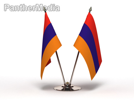 miniature flag of armenia isolated