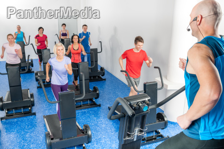 class of young adults with fitness