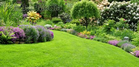 beautiful garden in the spring