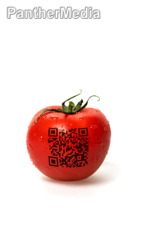 tomato with qr code