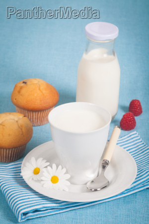 healthy nutrition with fresh milk and