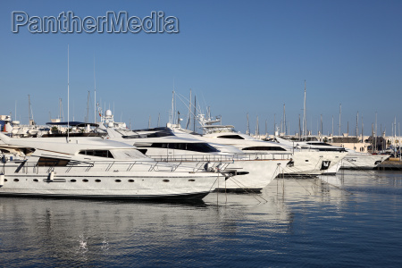 luxury yachts in the marina of