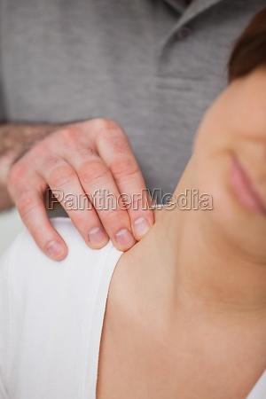 close up of a man massaging