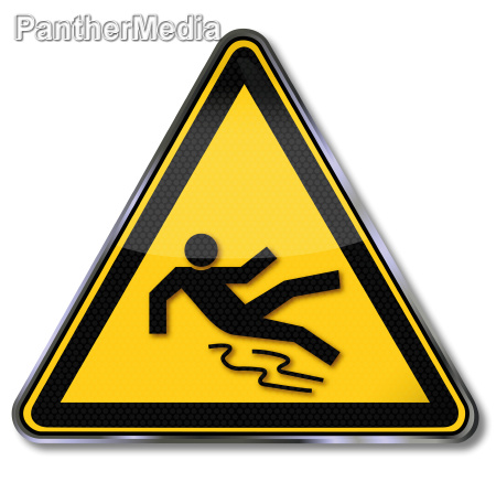 shield warning of slipping hazard