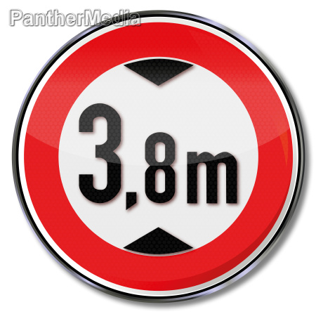 road sign 38 m height
