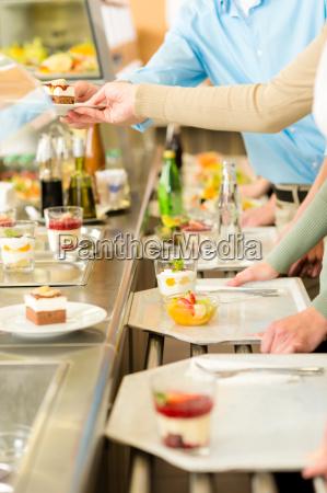 dessert at cafeteria self service canteen