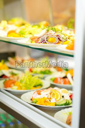self service buffet fresh healthy salad