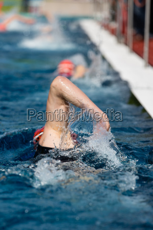 swimmer in competition