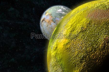 sulfur moon
