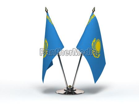 miniature flag of kazakhstan isolated