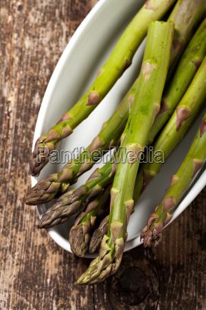 fresh green asparagus in spring