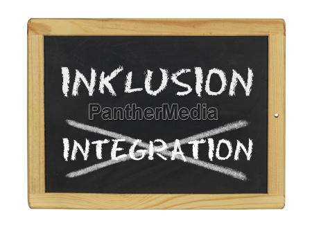inclusion instead integration