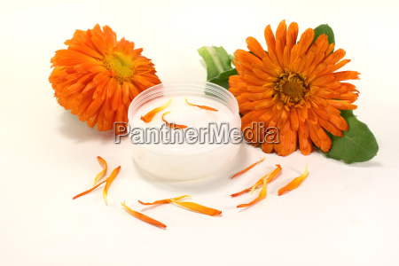 marigold ointment with petals
