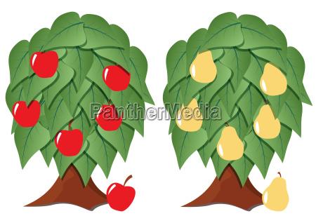fruit tree stylized
