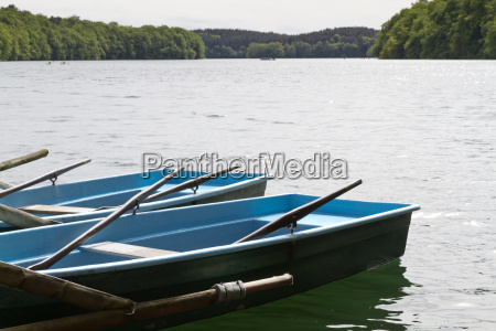 rowing boat at oberpfuhlsee near lychen