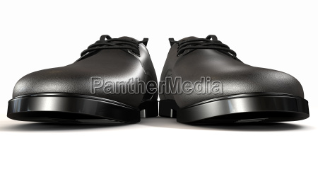 formal black leather shoes extreme front