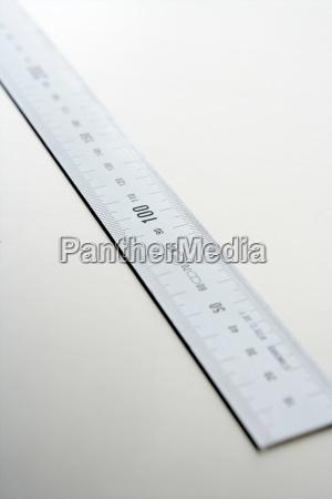 silver aluminium ruler meter