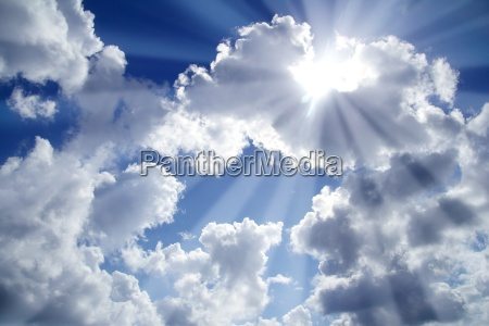 beams of light sky blue with