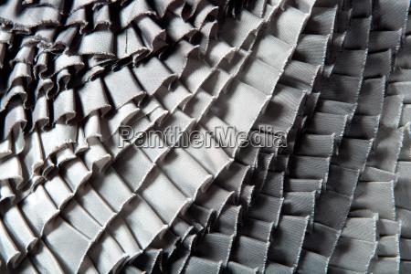 gray ruffled skirt pleated texture