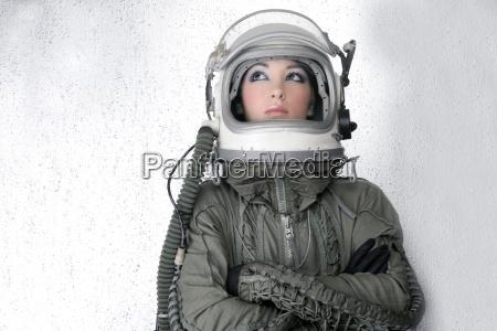 aircraft astronaut spaceship helmet woman