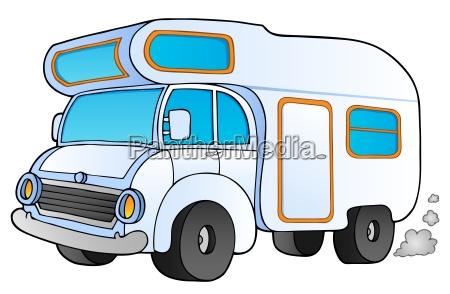 cartoon camping van