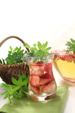 fresh maybowle with woodruff