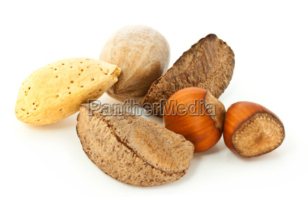 mixed nuts in the shell
