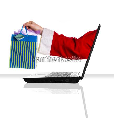 laptop santa