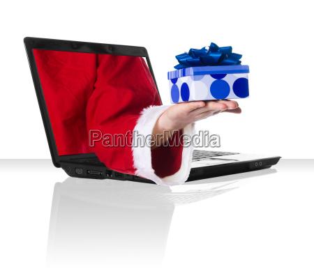 black laptop xmas