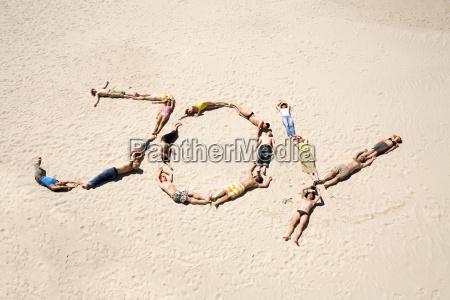 joyful sunbathers
