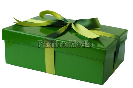gift wrapped in green
