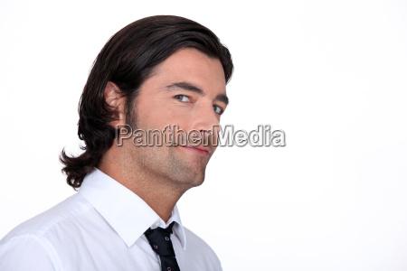 closeup of a man in a