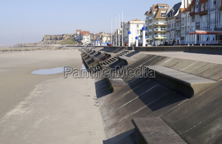 seafront at wimmereux near boulogne france