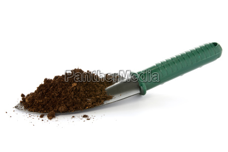garden spade with soil