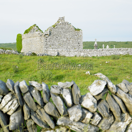ruins of carran church burren county