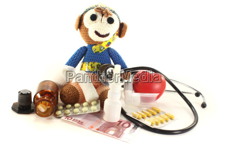 pediatrician with monkeys and money