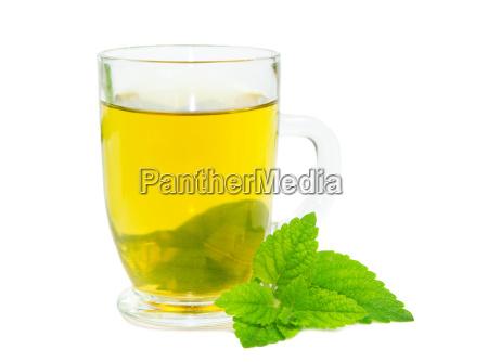 bicchiere te tea bere foglie ristoro